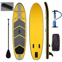 Caroma Inflatable Stand Up Paddle Board, Premium SUP Accessories, Bottom Fin for Paddling, Leash, Hand Pump and Backpack, Non-Slip Deck, Youth & Adult Standing Boat