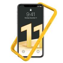 RhinoShield Bumper Case for iPhone 11 / XR CrashGuard NX - Shock Absorbent Slim Design Protective Cover 3.5M/11ft Drop Protection - Yellow