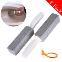 Pumice Stone for Toilet Bowl Cleaning, Hard Water Toilet Bowl Ring Cleaner, Stains and Paint Pool Tile Remover for Kitchen/Grill/Bath/Spa/tile/Household Cleaning(2 Pack with a Drain Snake)