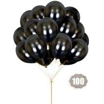Black Balloons HoveBeaty 12 Inches thicken Latex Metallic Balloons 100 Pack for Wedding Party Baby Shower Christmas Birthday Carnival Party Decoration Supplies