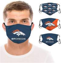 3 Packs Face Mask With 6 Filter Women Men Reusable Washable With Replacement Pocket