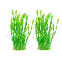 Vetoo Aquarium Artificial Plants, Plastic Grass Decor Fish Tank Water Plant 5 inch / 8.6 inch