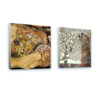 """Alonline Art - Water Serpents Tree Of Life by Gustav Klimt 