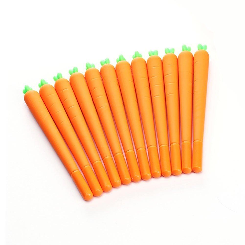 WIN-MARKET Fashion Cute Colorful Cute Kawaii Lovely Lovely Cartoon Vegetable Carota Carrot Gel Ball Pens Office School Supply Stationery(6PCS)
