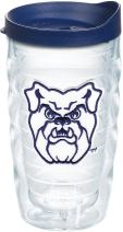 Tervis 1204059 Butler Bulldogs Logo Tumbler with Emblem and Navy Lid 10oz Wavy, Clear