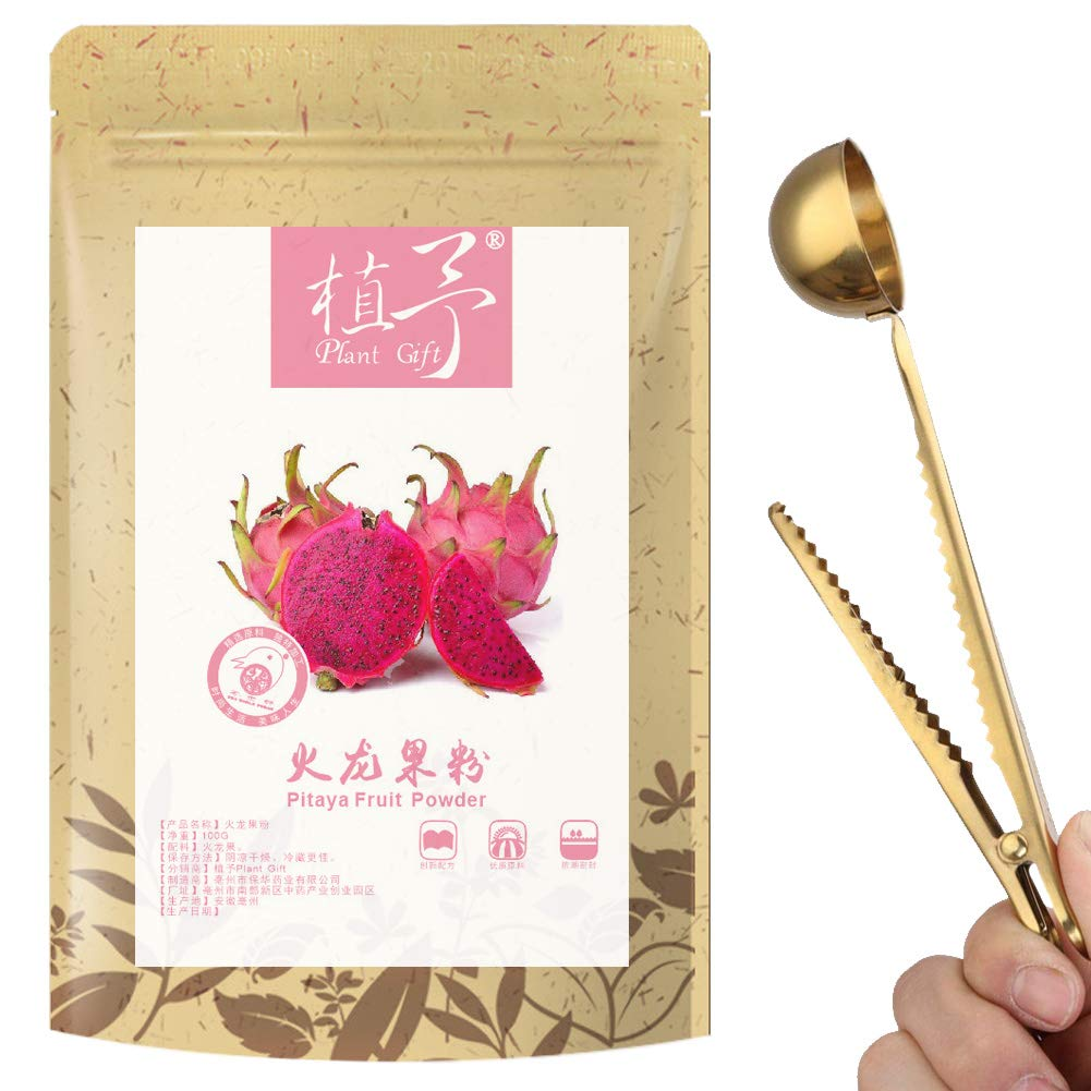 100% Pure Natural Plant Pitaya Powder, Face Film Materials, Meal Powder, Delicate, Moist, Shiny, Anti-aging 100G