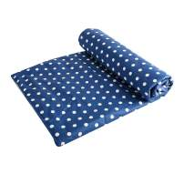 UOMNY Kids Toddler Blanket - Soft Cot Comforter Crib Baby Quilts for Boys and Girls 33x42 Inch Cotton 1 Pack Baby Blanket Cradle Quilt Nursery Bed Throw Blanket Bed Cover Weight Blanket (Blue Dot)