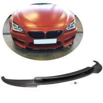 MCARCAR KIT Front Bumper Lip fits BMW 6 Series F06 Gran Coupe/F12 Convertible/F13 Coupe M6 2013-2018 Add-on Factory Outlet Carbon Fiber CF Chin Spoiler Splitter Protector