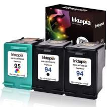 Inktopia 94 95 Remanufactured Ink Cartridge Replacement for HP 94 and HP 95 C9354BN C8765WN C8766WN (2 Black, 1 Tri-Color) 3 Pack