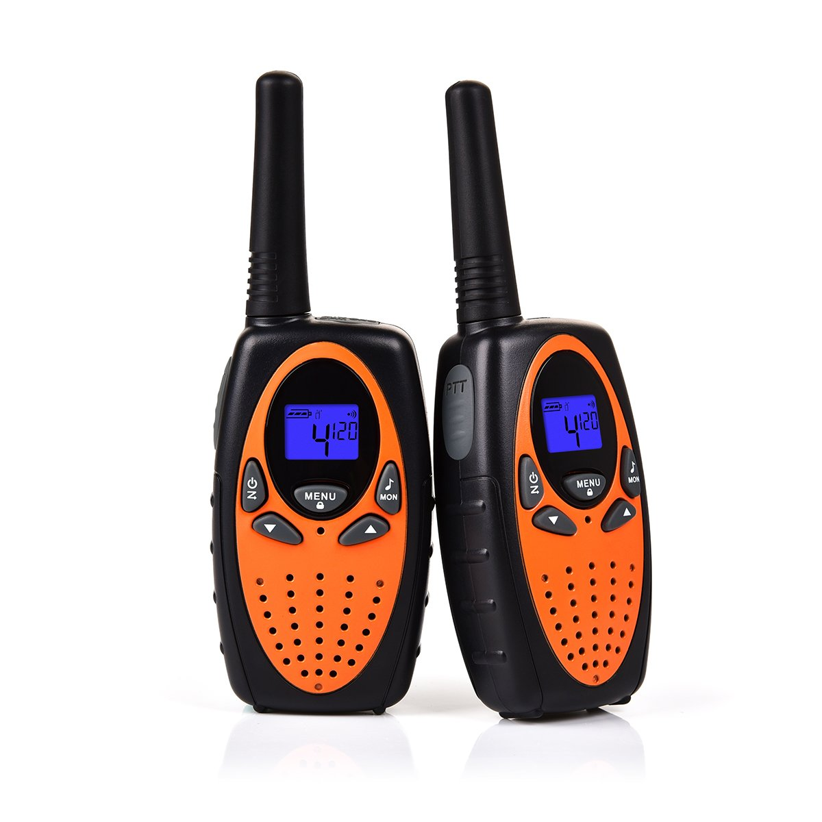 Swiftion Handheld Kids Walkie Talkies Rechargeable 22 Channel 0.5W FRS/GMRS Walky Talky for Kids 2 Way Radios (Orange,Without Charger & Batteries)