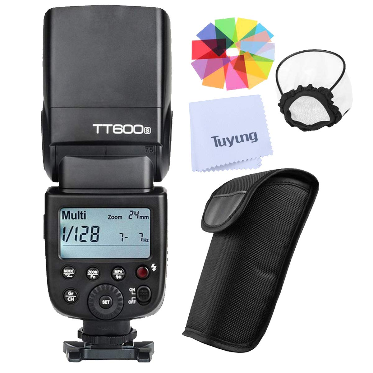 Godox TT600S GN60 2.4G Wireless X System Speedlite Flash for Sony Camera,0.1-2.6s Recycle time,5600k±200k Color Temperature,32 Channel,230 Full Power Flashes,Compatible for AD360II TT685 X1T