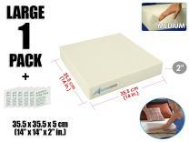 Arrowzoom New 1 Piece of 14 X 14 X 2 Inches/35.5 X 35.5 X 5 cm Medium Density Upholstery Foam Cushion Sheet Padding AZ1137