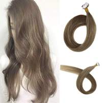 Promotion Full Shine 20 Inch Tape In Brown Hair Remy Hair Extensions Mini Tape Ins Color #9A Green Brown Skin Weft Tape In Adhesive Extensions 1g/pcs 20pcs