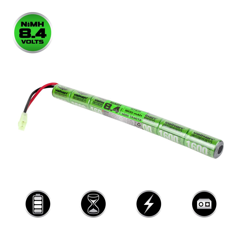 Valken Airsoft Battery - NiMH 8.4v 1600mAh Mini Stick Style