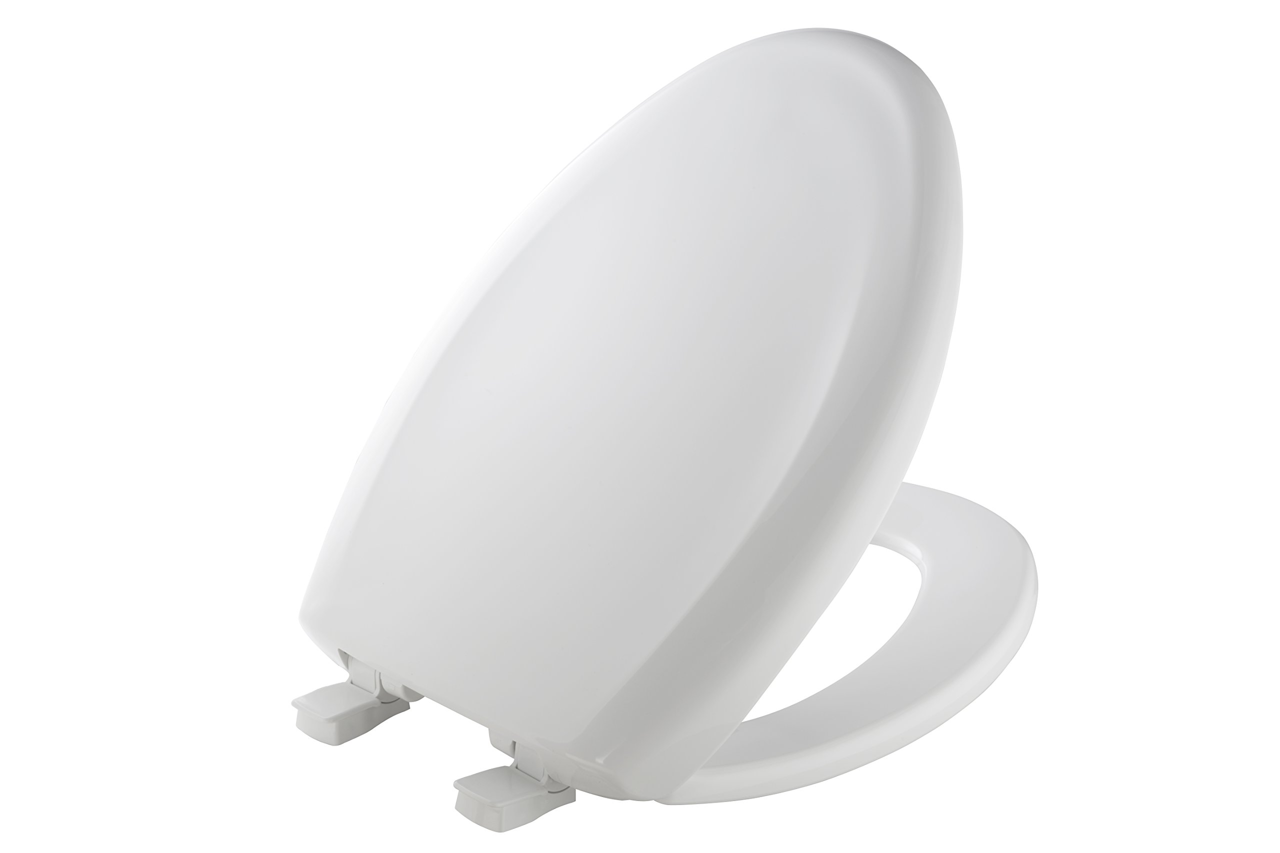MAYFAIR Toilet Seat will Slow Close and  Never Come Loose, ELONGATED, Long Lasting Plastic, White, 120SLOWE 000
