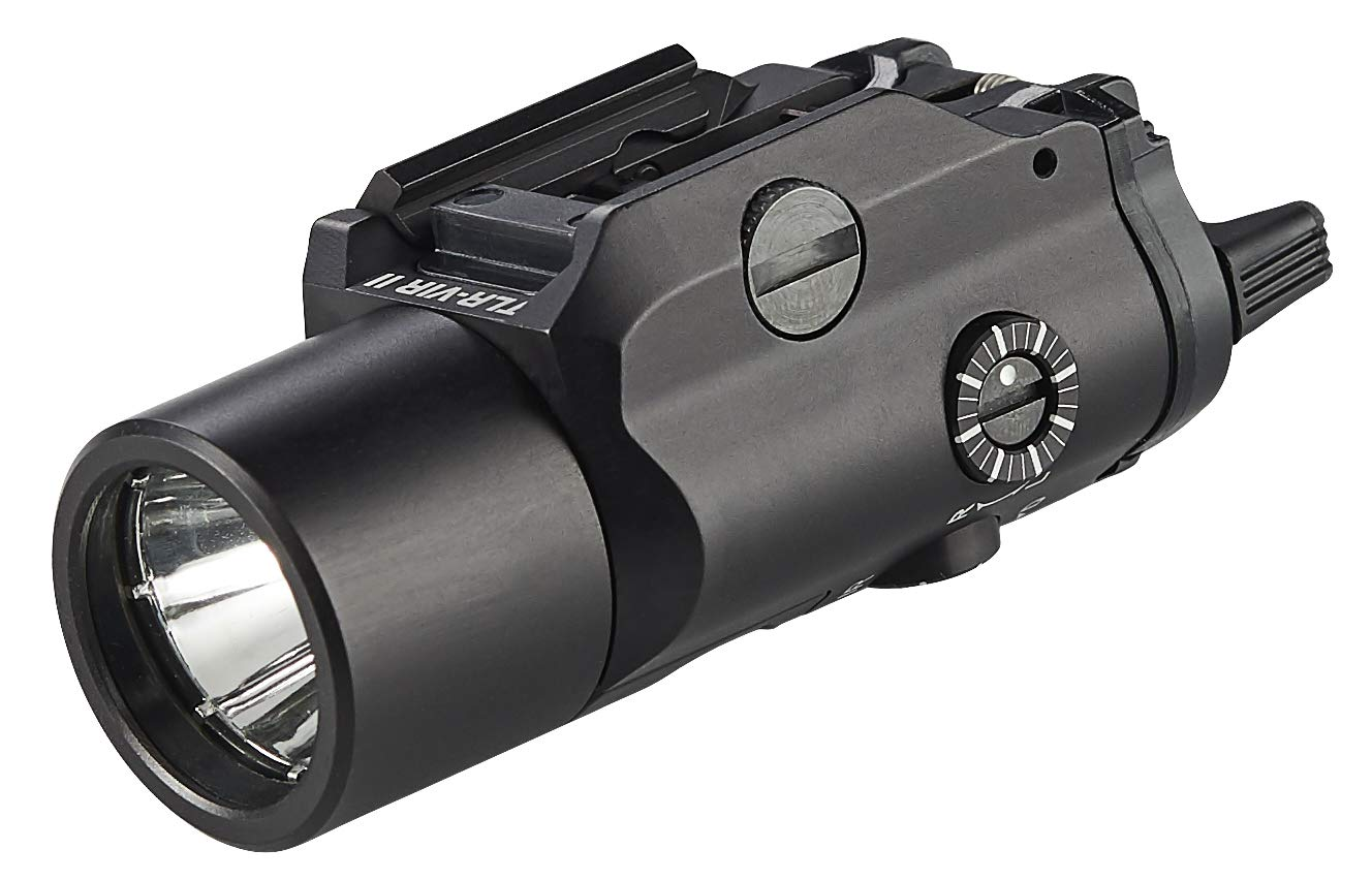Streamlight 69192 TLR-VIR Ii Visible LED/IR Illuminator/IR Laser with Rail Locating Keys & CR123A Lithium Battery - Black - 300 Lumens