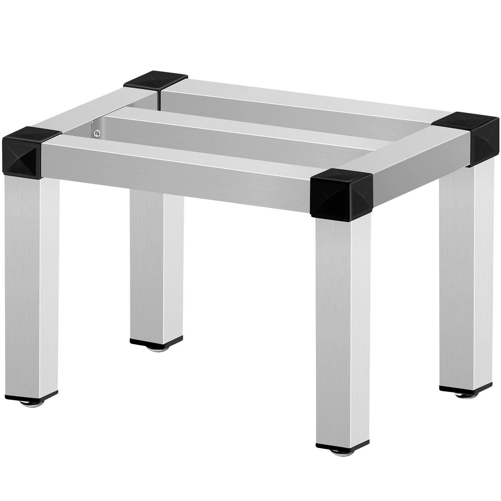 VEVOR Aluminum Dunnage Rack, 24'' x 20'' Commercial Floor Food Shelf, 12'' off the Floor, 1000lbs Capacity Aluminum Storage Rack, Commercial Food Service Storage in Restaurant, Kitchens, Shops