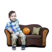 KEET Homey VIP Organic Kid's Sofa, Brown/Beige
