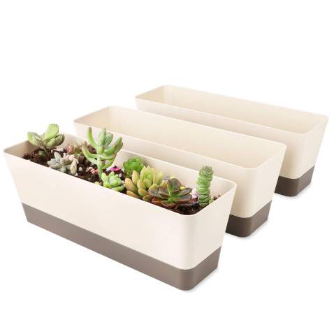 Geometric Small Plant Pot For Succulents Lightweight Durable Modern