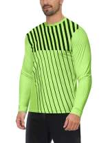 ChinFun Adult Long Sleeve Goalkeeper Soccer Jersey Padded Goalie Shirt with Sponge Protector