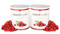 Nutristore Freeze Dried Raspberries by Amazing Taste | Healthy Snack | Survival Food