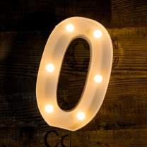 Foaky LED Number Lights Sign Light Up Number Lights Sign for Night Light Wedding Birthday Party Battery Powered Christmas Lamp Home Bar Decoration (0)