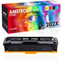Amstech Compatible Toner Cartridge Replacement for HP 202X CF500X CF500A 202A Toner for HP Laserjet Pro MFP M281fdw M281cdw M254dw M281fdn M254nw M254dn M280nw HP M281 Ink Printer (Black, 1-Pack)