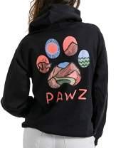Pawz Multi-Color Logo Hiking Black Hoodie