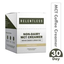 Non-Dairy MCT Oil Creamer by Live Relentless Nutrition — Keto MCT Coffee Creamer Derived from 100% Coconut Oil in Single Use Packets