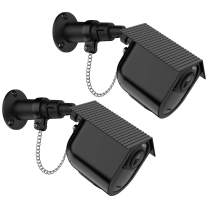 Aobelieve Outdoor Security Wall Mount with Safety Chain Lock and Weather-Resistant Birdhouse Cover for Arlo Ultra Camera (Black, 2 Pack)
