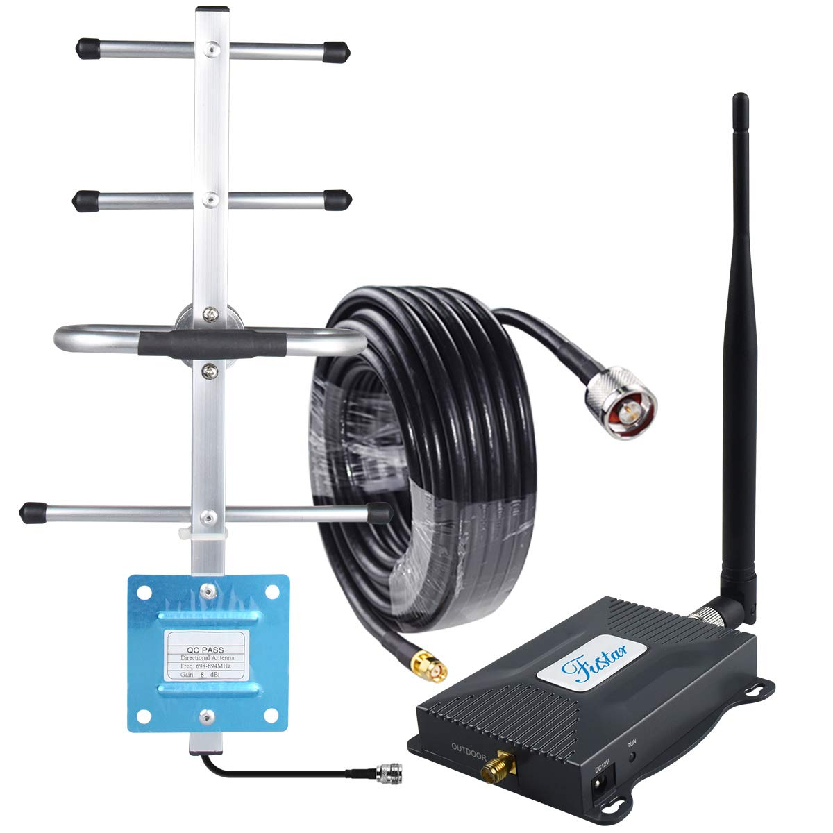 Cell Phone Signal Booster Verizon 4G LTE Signal Booster Band 13 Cell Phone Booster Verizon 4G LTE Network Extender Cell Booster Repeater Home 4G Booster Yagi Antenna Kit 65dB Boosts Voice/Data FUSTAR