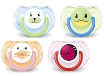 Philips Avent Orthodontic Pacifier, 6-18 Months, Animal Design SCF182/24 (Colors and designs may vary), 2 count