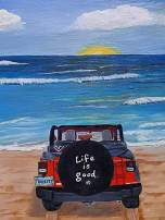 DIY 5D Diamond Painting Kit for Adults and Kids,Full Drill Arts Craft Canvas,Crystal Rhinestone Embroidery Paint for Home Wall Decor and Special Gift, Jeep Sunshine Beach