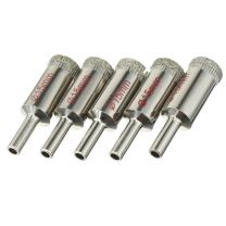 uxcell 5PCS 15mm Diamond Coated Hole Saw Drill Bits for Glass Ceramic Tile Marble Rock Porcelain