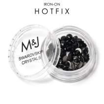 Swarovski Crystals Iron-on Hotfix Rhinestones - 2078 Xirius Rose Round Adhesive Backed - SS20 (4.6mm-5mm) - Jet 290 (Black)