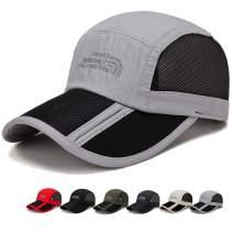 ROWILUX Outdoor Quick Dry Mesh Hat Folding Portable Unisex UV SPF 50+ Baseball Cap