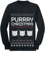Purrry Christmas Ugly Sweater Cute Cats Toddler/Kids Long Sleeve T-Shirt