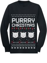 Purrry Christmas Ugly Sweater Cute Cats Toddler/Kids Long Sleeve T-Shirt