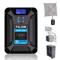 FXLION Nano ONE V Mount/V-Lock Battery 3400mAh(50Wh/14.8V) with D-TAP,USB-C,USB-A, Micro USB Plugs, 310g Mini Power Bank for Cameras, Camcorders,Large LED Lights, Monitors, MacBook and Smartphone