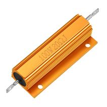 uxcell Aluminum Case Resistor 100W 20 Ohm Wirewound Gold Tone for LED Replacement Converter 100W 20RJ