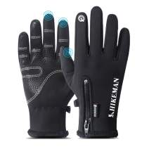 Winter Gloves for Men Waterproof, Warm Gloves with Touch Screen Fingers, Sport Gloves for Ski, Running, Cycling