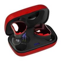 Sontinh CoolBuds True Wireless Earbuds, Bluetooth 5.0 Earphones with 66FT Range & Mini Case, TWS Stereo Headphones with 20H Playtime, Total Bluetooth Earbuds with IPX5 Waterproof Red