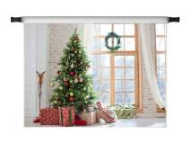 Kate 8x8ft Christmas Photo Backdrops Window Xmas Tree Gift Room Party Decoration Backdrops for Photoshoot Prop