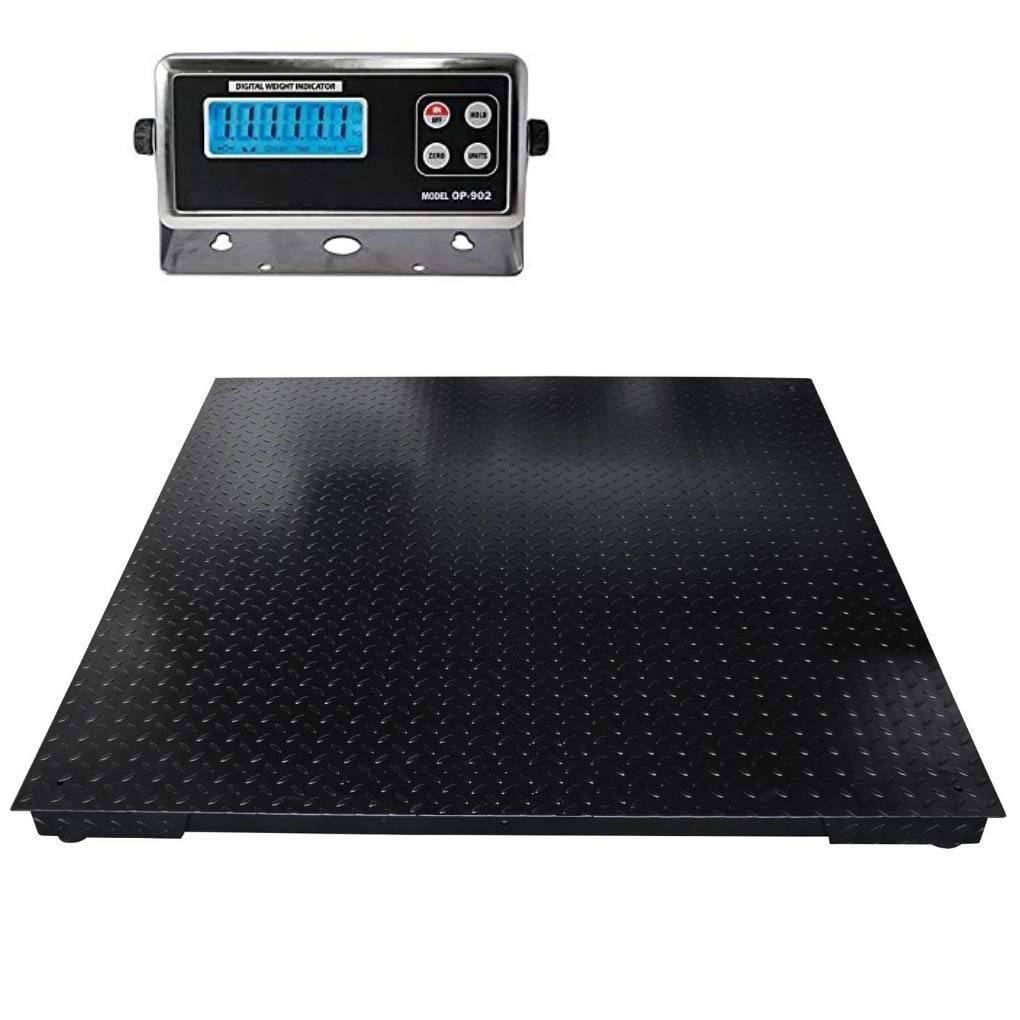 """SellEton Floor Scales, Accurate Pallet Scales with Smart Digital Indicator for Warehouse Shipping and Heavy Duty Industrial Weighing (60""""x84"""", 10.000 lb x 1 lb)"""