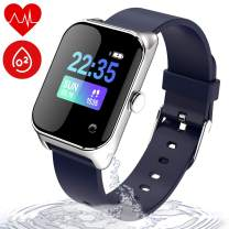 wonlex Fitness Tracker IP67 Waterproof for Swimming, Smart Watch with Blood Pressure, Sleep, Calorie and Heart Rate Monitor, Men and Women Activity Tracker for Android & iOS (Navy)
