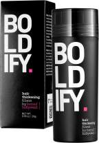 BOLDIFY Hair Fibers for Thinning Hair (DARK GREY) 100% Undetectable Natural Fibers - Giant 28g Bottle - Completely Conceals Hair Loss in 15 Seconds - For Women & Men