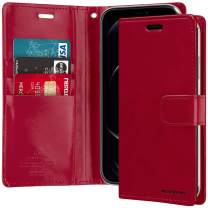 Goospery Blue Moon iPhone 12 Pro Max Wallet Case (6.7 inches) Leather Stand Flip Cover (Wine) IP12PM-BLM-WNE