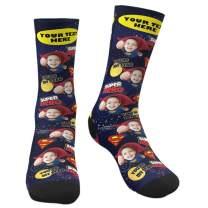Custom Face Socks Multiple Faces Personalized Photo on Crew Socks for Men Women Funny Gift