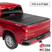 """BAK BAKFlip F1 Hard Folding Truck Bed Tonneau Cover   772409T   Fits 2007-20 Toyota Tundra, w/OE track system 5'6"""" Bed"""