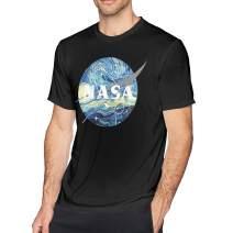 INISCO NASA T Shirt Men Space Exploration, Classic Fit Short-Sleeve Crewneck Shirt